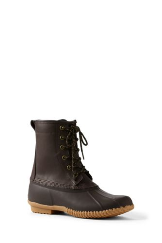Men's Unlined Duck Boots by Lands' End