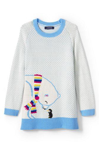 Little Girls' Polar Bear Tunic Length Jumper