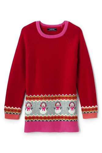 Little Girls' Tunic-length Snowman Jumper