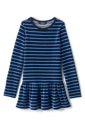 Leggings-Shirt aus Samt für kleine Mädchen