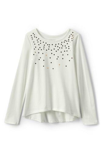 Le T-Shirt à Motifs Brillants et Manches Longues, Toute Petite Fille