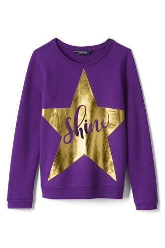 Sweatshirt mit Grafik-Print für kleine Mädchen