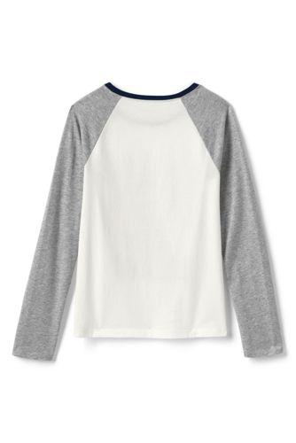 Lands' End - Girls' Glitter Heart Raglan T-shirt - 2