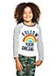 Girls' Glitter Heart Raglan T-shirt
