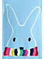 Little Girls' Boatneck Cotton Blend Bunny Jumper