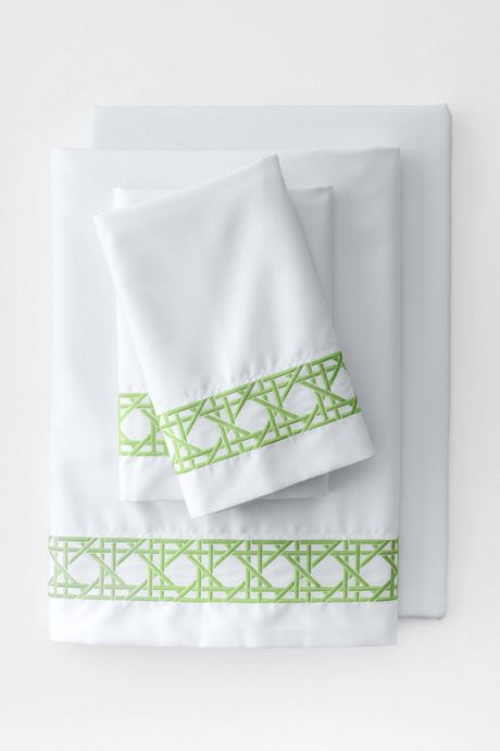 Supima Cotton No Iron Sateen Cane Weave Pillowcases - 400 Thread Count