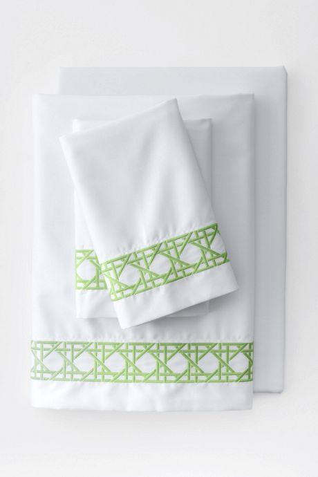 Supima Cotton No Iron Sateen Cane Weave Pillowcases - 400 Thread Count