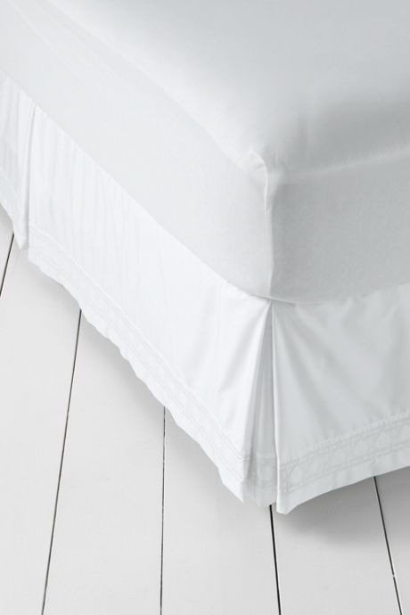 Supima Cotton No Iron Sateen Embroidered Bedskirt - 400 Thread Count