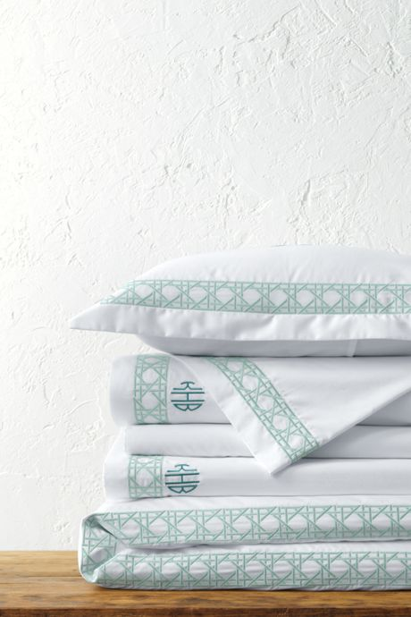 400 No Iron Embroidered Cane Weave Duvet Cover