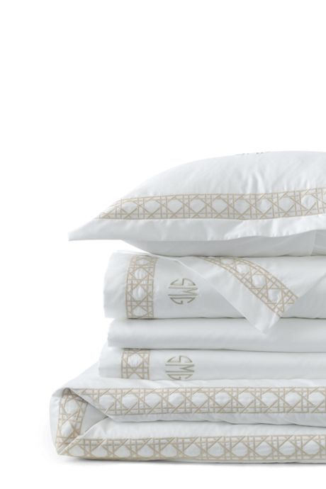Supima Cotton No Iron Sateen Embroidered Duvet Cover - 400 Thread Count