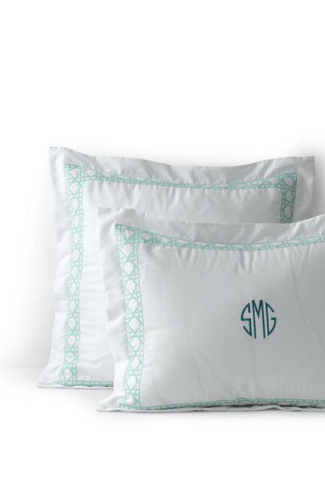 Supima Cotton No Iron Sateen Embroidered Sham - 400 Thread Count