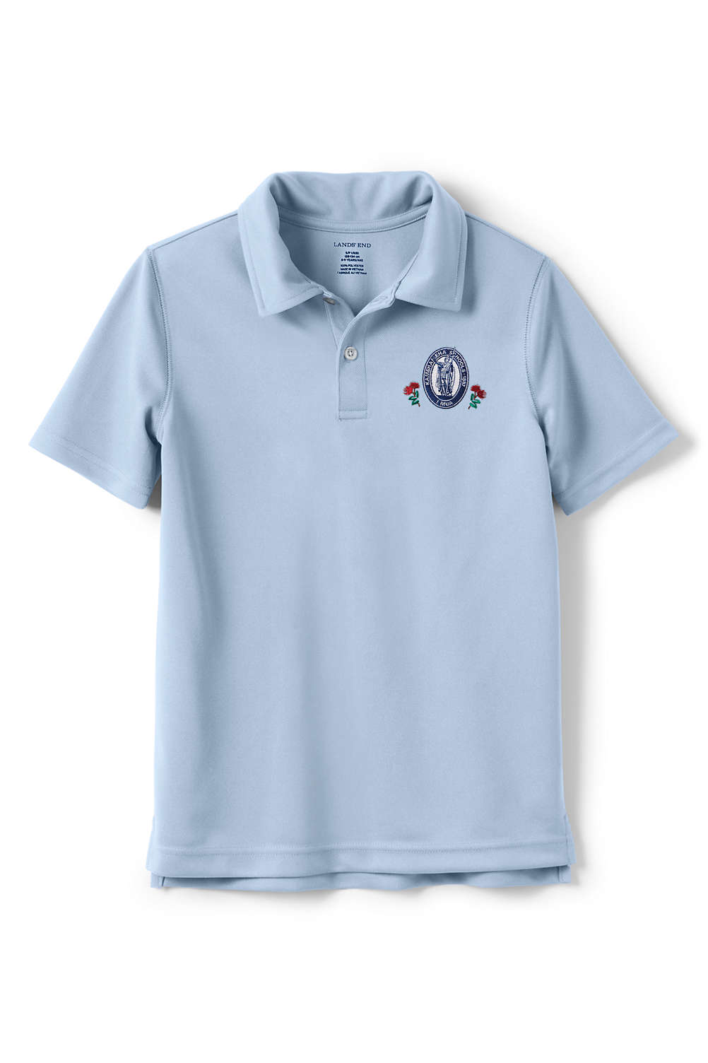 391ea1ecd78a School Uniform Kamehameha Boys Short Sleeve Poly Polo