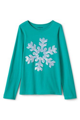 Le T-Shirt Graphique Hivernal, Toute Petite Fille