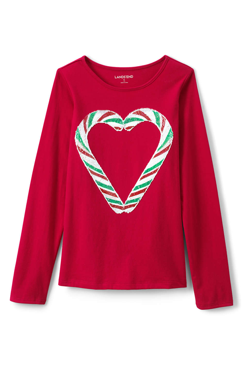 6597b7106f4 Girls Holiday Embellished Graphic Tee from Lands  End