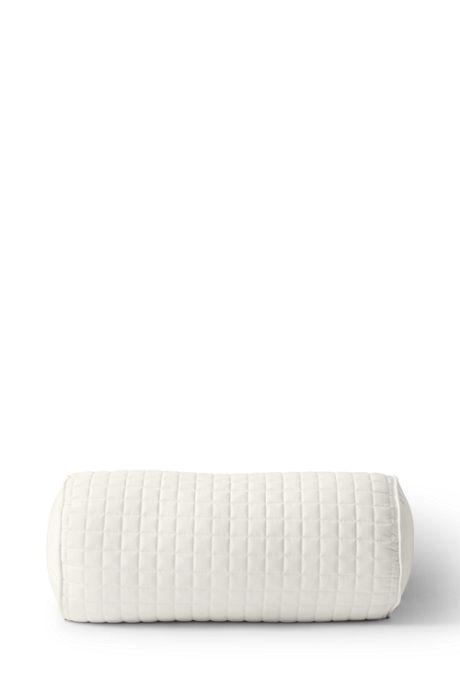 Sateen Quilted Bolster Pillow