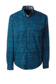 Men's Tall Long Sleeve Checkered Print Shirt