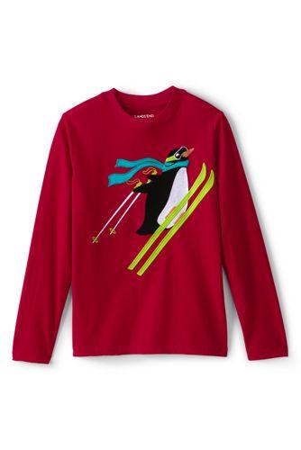Le T-Shirt à Graphique Appliqué et Manches Longues, Petit Garçon
