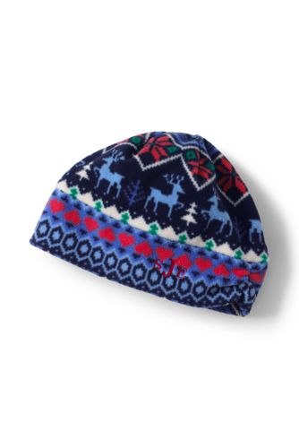 Women's Fleece Ruched Fair Isle Hat