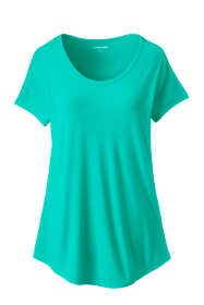 Women's Petite U-neck Jersey T-shirt