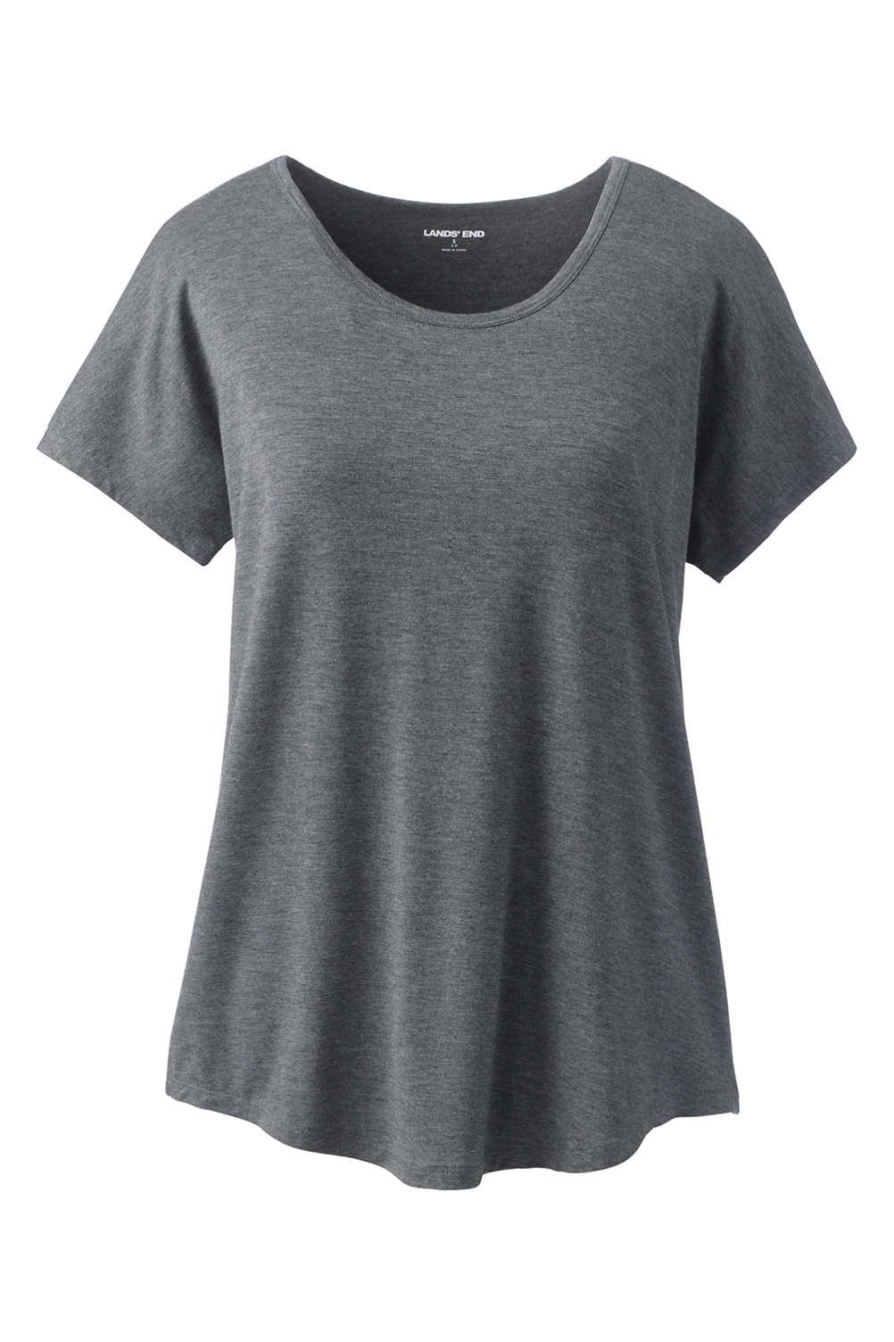 f0524e49745 Women's Jersey U-neck T-shirt from Lands' End