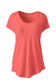 Women's Plus Size Jersey U-neck T-shirt
