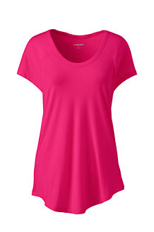 Women's Short Sleeve Jersey Scoop Neck T-shirt