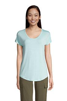 Shirt aus Bambusviskose, Ballett-Ausschnitt