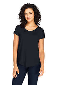 Women's Tall U-neck Jersey T-shirt