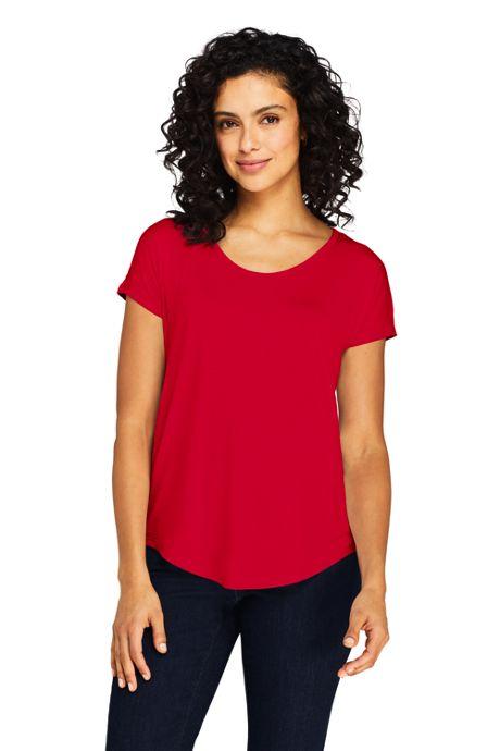 Women's Tall U-neck Jersey T-shirt