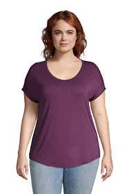 Women's Plus Size U-neck Jersey T-shirt