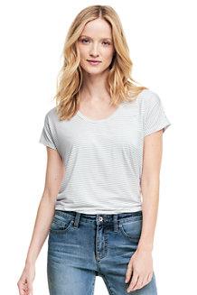 Le T-Shirt Rayé en Bambou Stretch, Femme