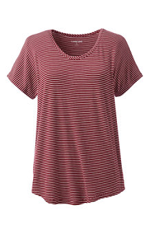 Women's Striped Lightweight Jersey T-shirt