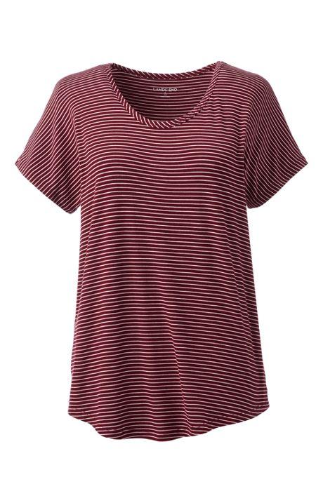 Women's Plus Size Jersey U-neck T-shirt