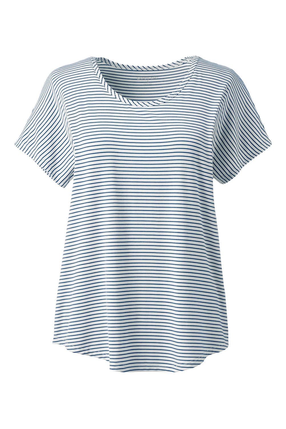 84f78274207 Women s Plus Size Jersey U-neck T-shirt from Lands  End