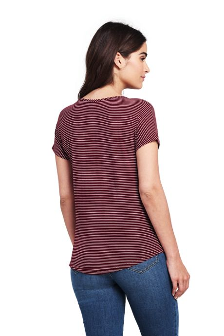 Women's Petite Jersey U-neck T-shirt
