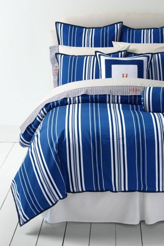 Oxford Coastal Stripe Duvet Cover And Sham From Lands End