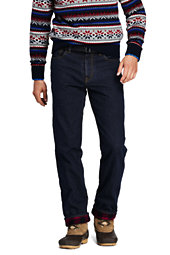 Men's Straight Fit Flannel Lined Jeans