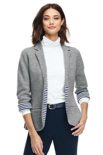 レディス・メリノコットン・ダブルフェイス・セータージャケット/長袖