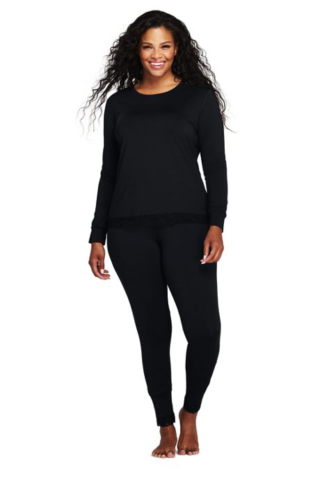 Women's Plus Size Thermaskin Heat Lace Crew