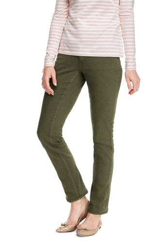 Women's Not-Too-Low Rise Slim Leg Coloured Jeans