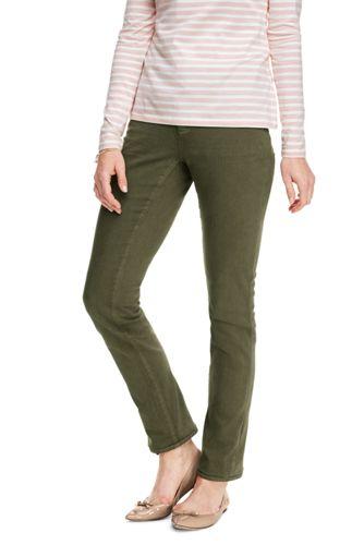 Le Jean Slim Coloré Taille Rabaissée, Femme Stature Standard