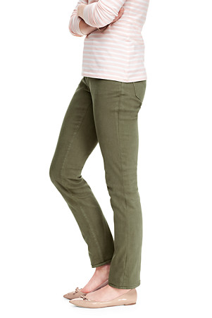 cf7d38e6ecfe7 LANDS  END. WOMEN S NOT-TOO-LOW RISE SLIM LEG COLOURED JEANS