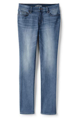 Leicht hüftige Slim Jeans in Indigo für Damen