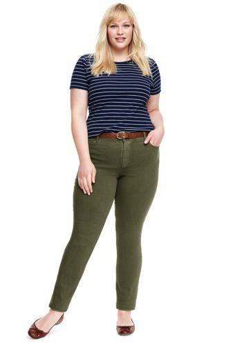 Women's Plus Size Mid Rise Slim Leg Jeans