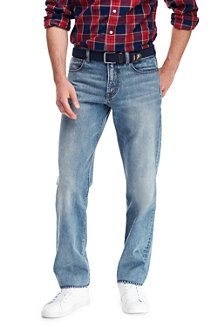 Men's Pre-hemmed Straight Fit Jeans