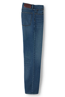 Vorgesäumte Straight Fit Denim-Jeans für Herren