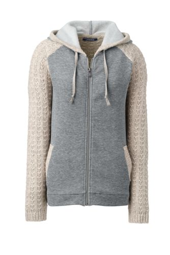 Hot Sale Womens Soft Leisure Hooded Cardigan - LXL Lands End Fake Online Sale View Official For Sale LDGFRcuxw