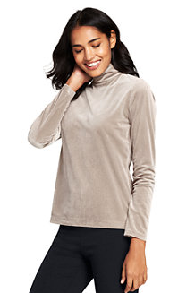Women's Velvet Roll Neck