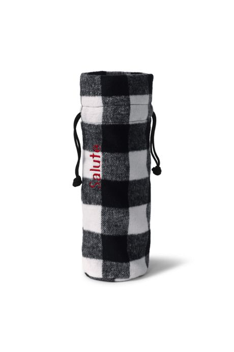 Buffalo Check Wine Bag