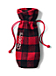 Red Plaid Wine Bag